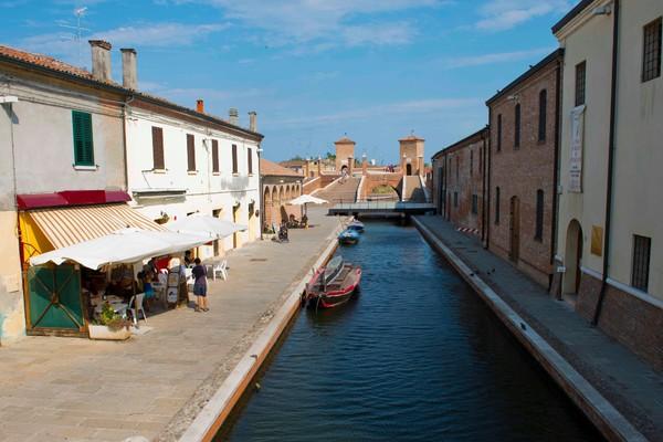 Wanderweg in Comacchio