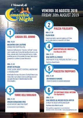 Locandina Comacchio by Night 30 Agosto