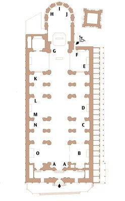 Pianta del Duomo di Ferrara