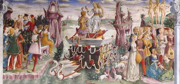 Mese di Aprile - Salone dei Mesi  - Palazzo Schifanoia